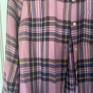 Old Navy Tops - Pink Plaid Button Up NWOT